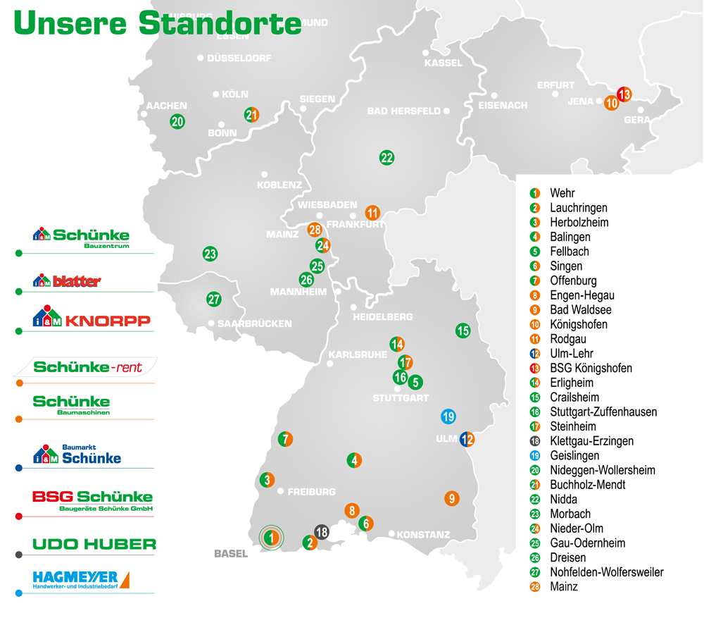 BSG Baugeräte Schünke - Online-Shop für Handwerk und Industrie